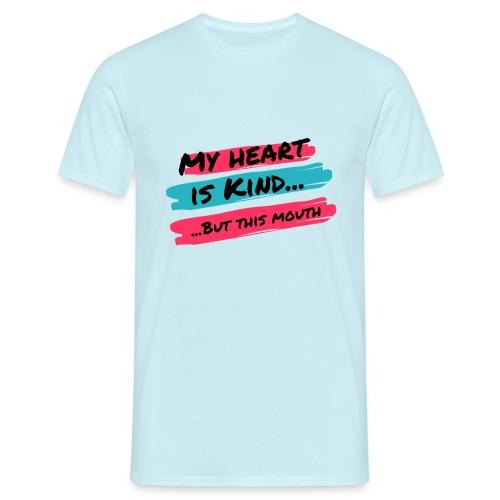 mouthheartvittext - T-shirt herr