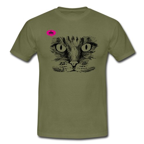 kattegezicht vdh - Mannen T-shirt