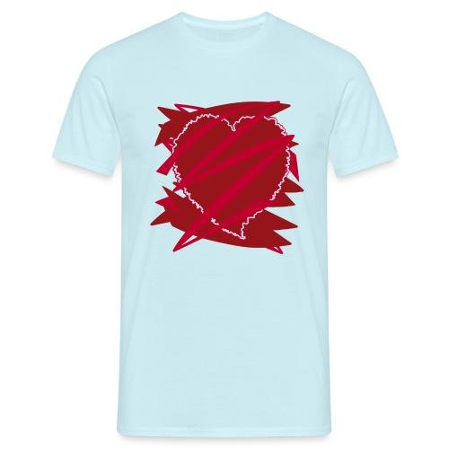 corazón enamorado, corazón roto - Camiseta hombre