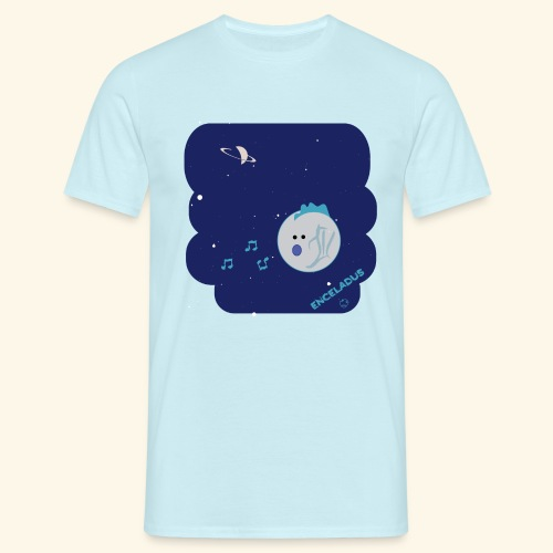 Enceladus punk rock moon of Saturn - T-shirt herr