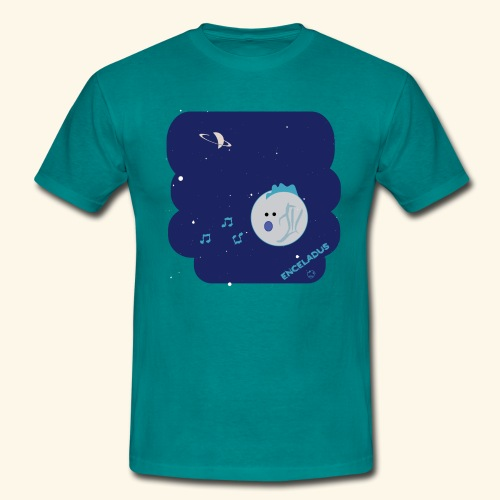 Enceladus punk rock moon of Saturn - T-shirt herr