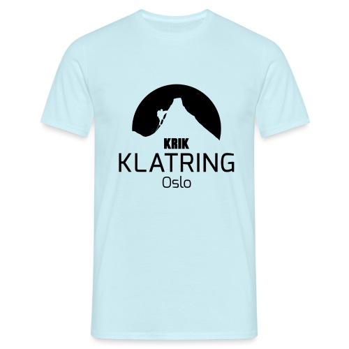 KRIK Logo Sort - T-skjorte for menn