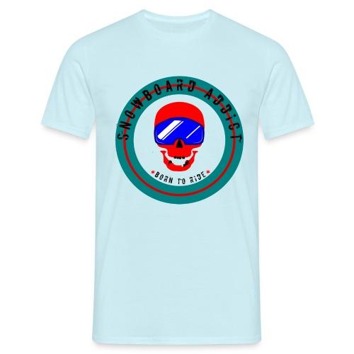Skull Snowborder - T-shirt herr