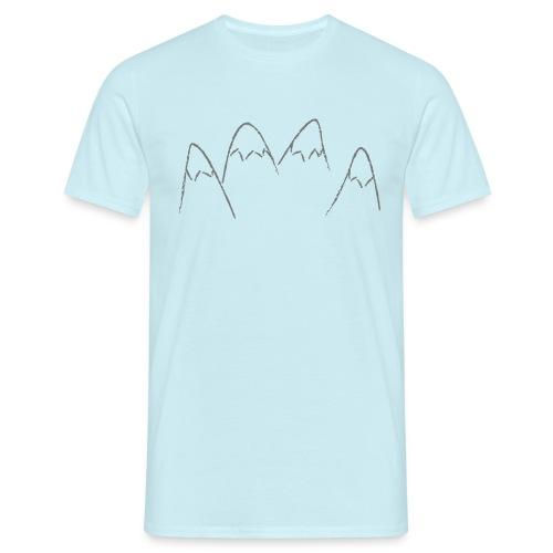 Abstracte bergen met sneeuw - Mannen T-shirt