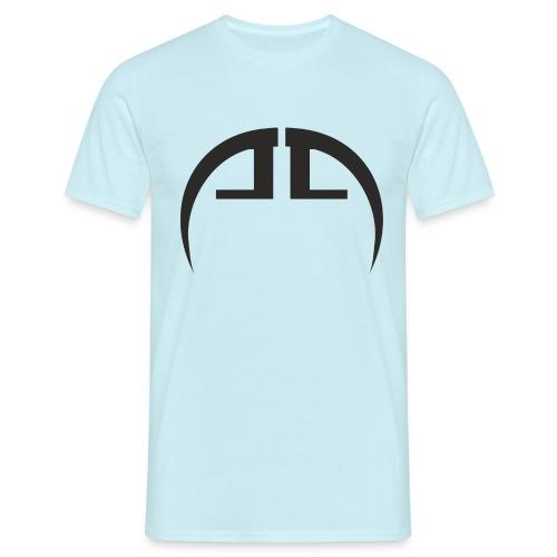 halb schwarz - Männer T-Shirt