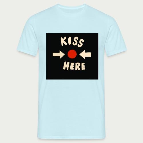Kiss here Maske - Männer T-Shirt