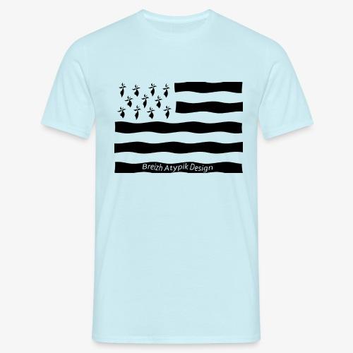 Gwenn ha Du-Noir fond transparent - T-shirt Homme