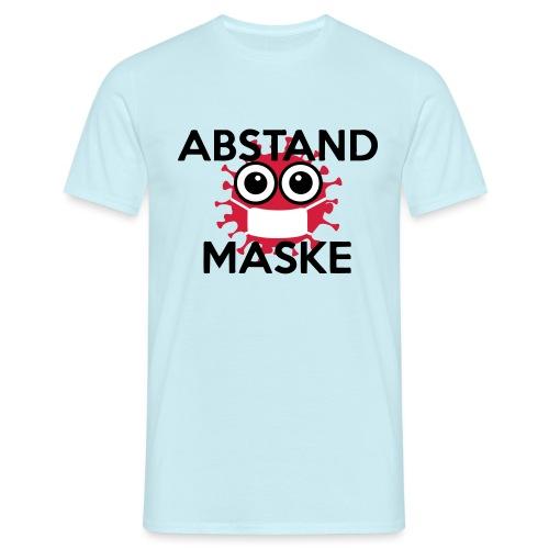 Mit Abstand und Maske gegen CORONA Virus - schwarz - Männer T-Shirt