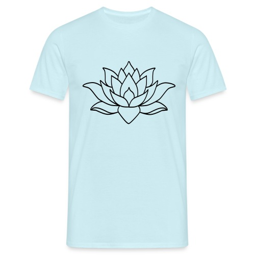 logo nur lotus pfade shirt - Männer T-Shirt