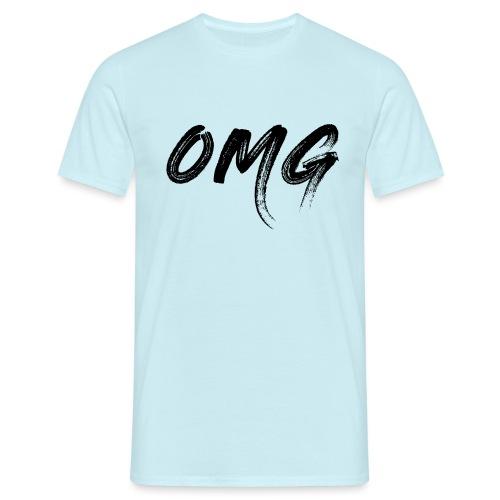 OMG, musta - Miesten t-paita