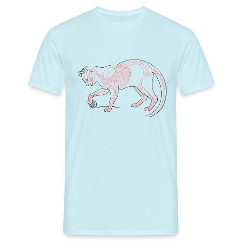 Kat skelet - Mannen T-shirt
