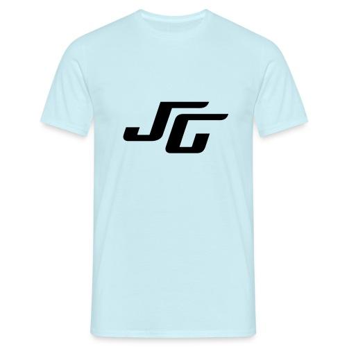 JG Logo schwarz - Männer T-Shirt