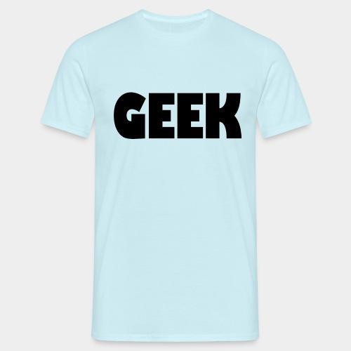 GEEK Text Logo Black - Men's T-Shirt