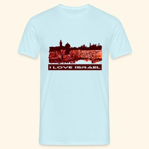 Jerusalem - I love Israel, Sunset-Motiv - Männer T-Shirt
