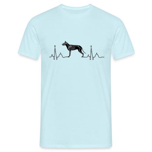 ECG met hond - Mannen T-shirt