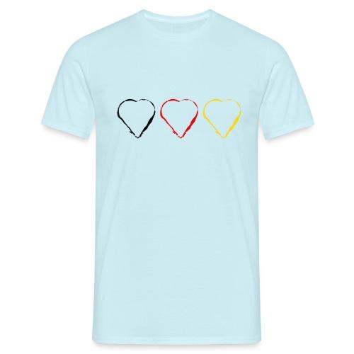 3 Herzen Deutschland #1 - Männer T-Shirt