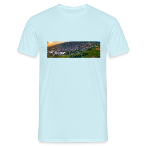 Viernheim von oben - Männer T-Shirt