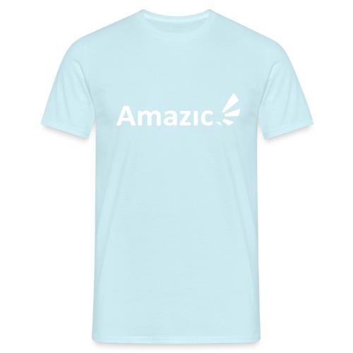 Amazic Logo White - Men's T-Shirt
