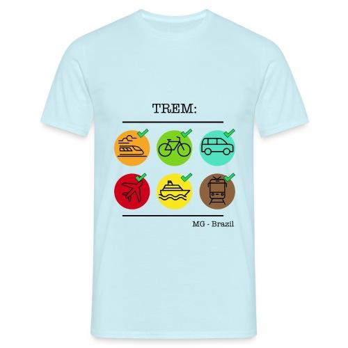 Um trem é um trem - A train is a train - Men's T-Shirt