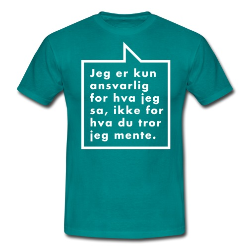 Ikke ansvarlig (fra Det norske plagg) - T-skjorte for menn