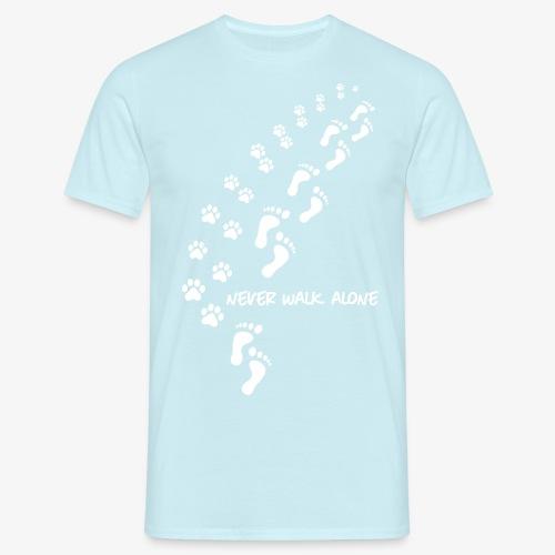 never walk alone dog - Männer T-Shirt