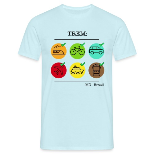 Um trem é um trem - A train is a train - Men's T-Shirt