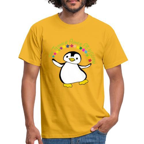 Pinguin Flower Power - Männer T-Shirt