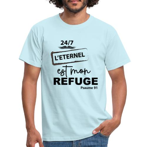 247 Éternel mon refuge en noir - T-shirt Homme