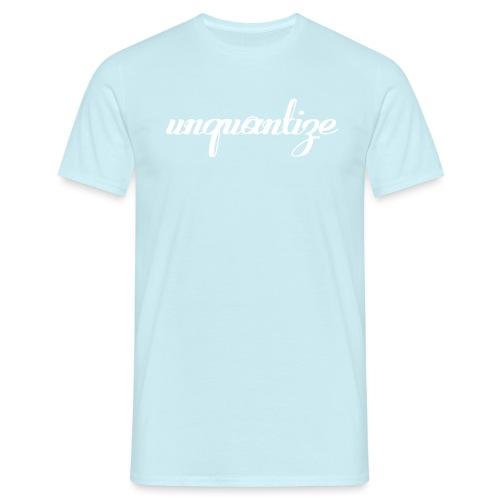 unquantize white logo - Men's T-Shirt