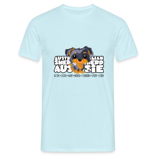 Aussie (Merle & Tan) - DGBigHead - Men's T-Shirt