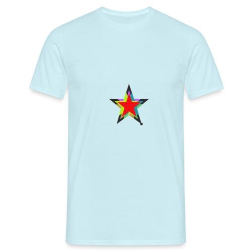 Colored star - Männer T-Shirt