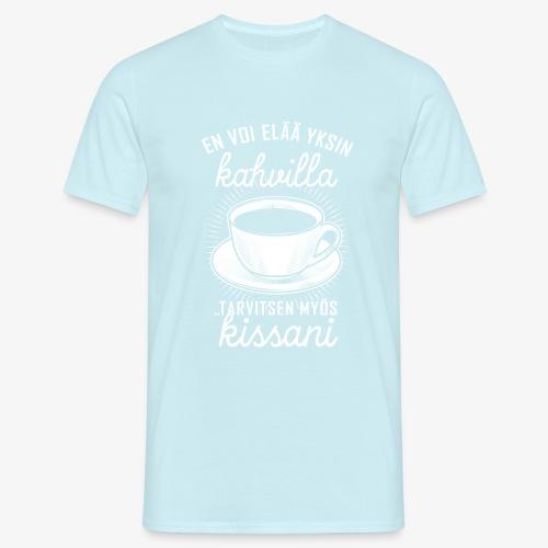 Yksin Kahvilla Kissa - Miesten t-paita