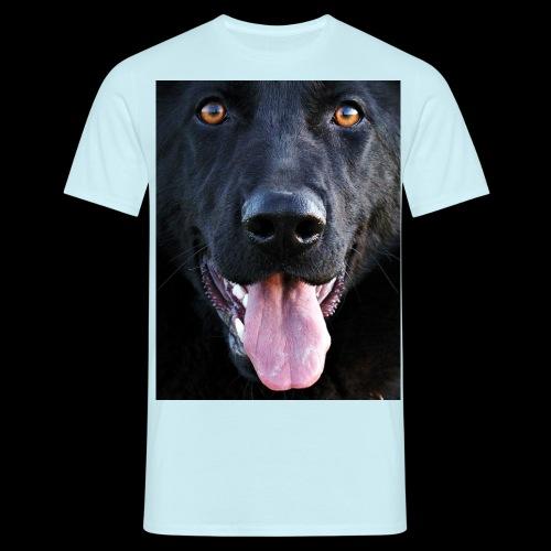 black-german-shepherd-lar - Men's T-Shirt