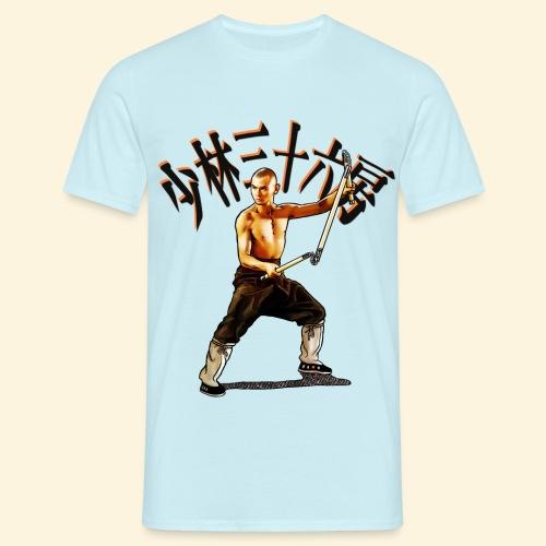 Shaolin Warrior Monk - 3 Section Staff - Mannen T-shirt