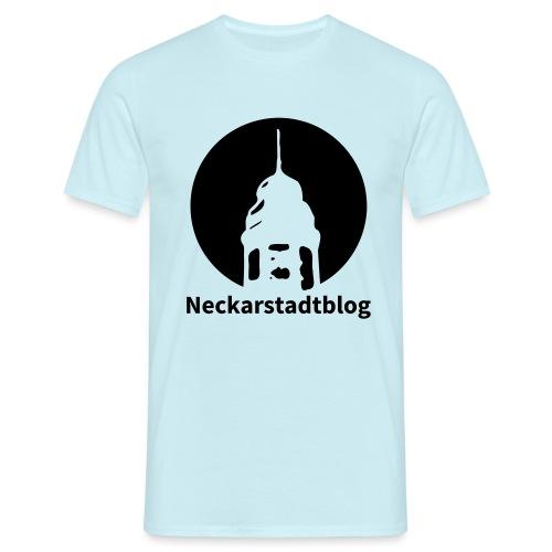 Logo mit Schriftzug invertiert (Alternative Farben - Männer T-Shirt