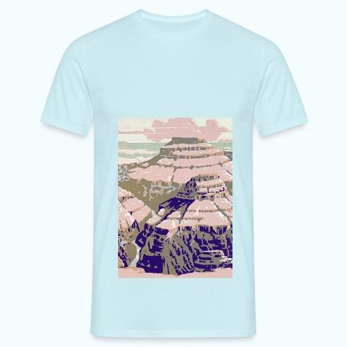 Rocky Mountains Vintage Travel Poster - Men's T-Shirt