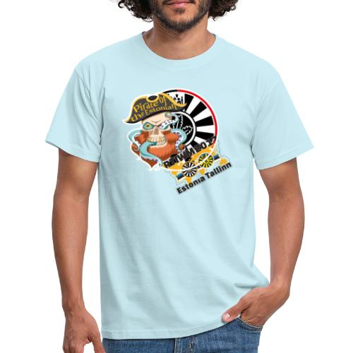pirate of the estonian back - Männer T-Shirt