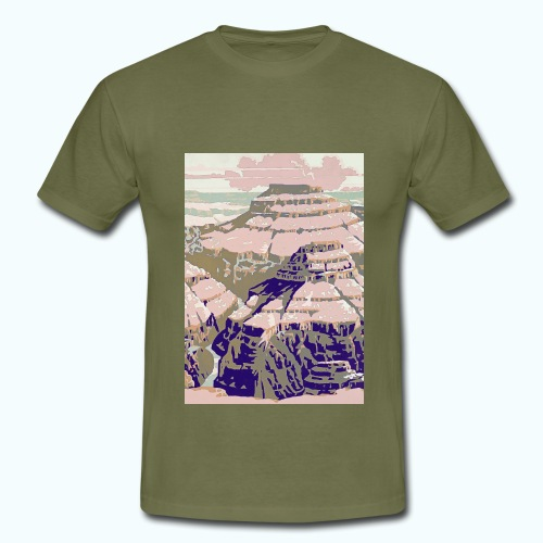 Rocky Mountains Vintage Travel Poster - Men's T-Shirt