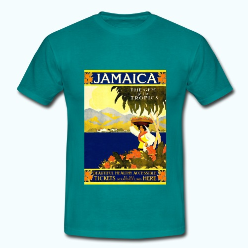 Jamaica Vintage Travel Poster - Men's T-Shirt