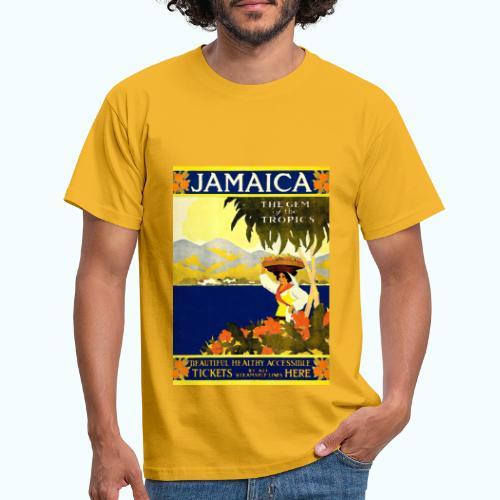 Jamaica Vintage Travel Poster - Men's T-Shirt