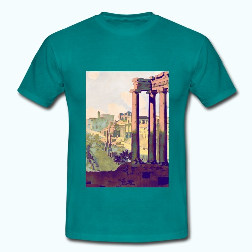 Rome Vintage Travel Poster - Men's T-Shirt