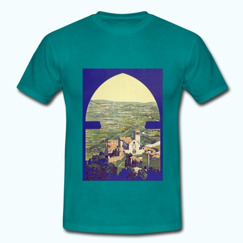 Tuscany vintage travel poster - Men's T-Shirt