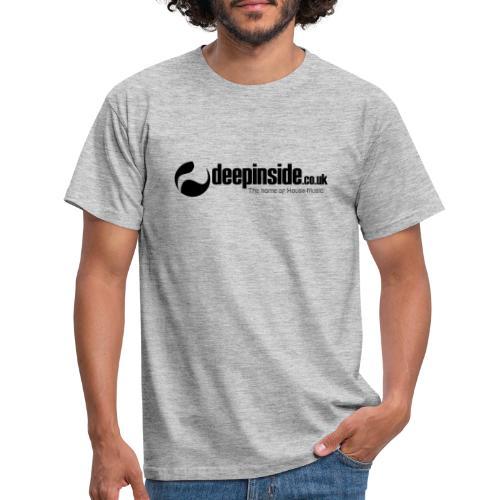 DEEPINSIDE The home of House-Music (Black) - Men's T-Shirt