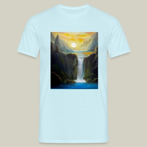 Wasserfall - Männer T-Shirt