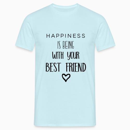 Happiness black edition - Men's T-Shirt