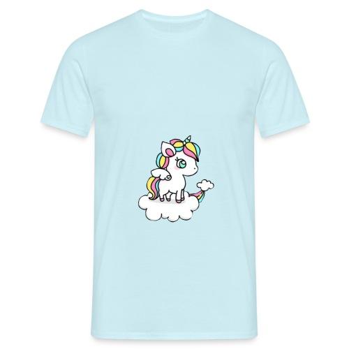 Einhorn-Be u - Männer T-Shirt