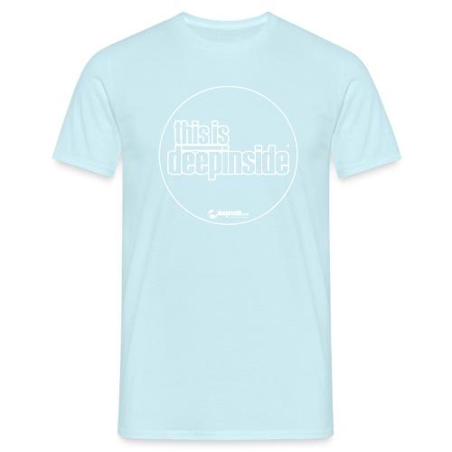 This is DEEPINSIDE Circle logo white - Men's T-Shirt