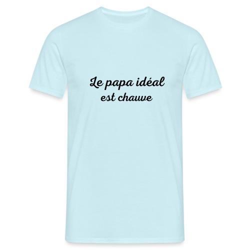 t-shirt fete des pères le papa idéal est chauve - T-shirt Homme