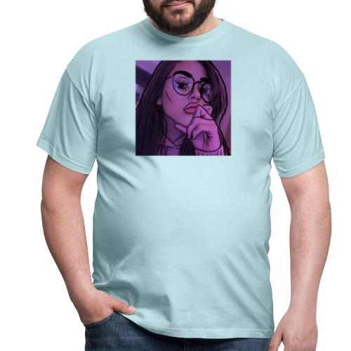 AESTHETIC GIRL WITH GLASSES - Männer T-Shirt