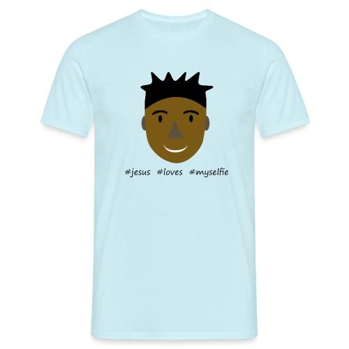 jesus loves myselfie - Männer T-Shirt